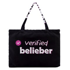 Verified Belieber Zipper Medium Tote Bag