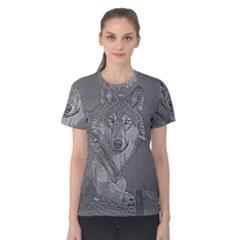 Wolf Forest Animals Women s Cotton Tee