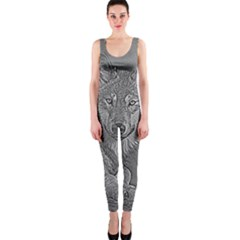 Wolf Forest Animals Onepiece Catsuit