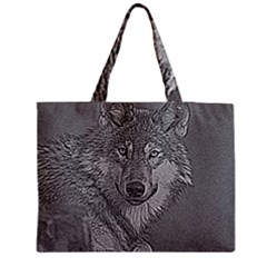 Wolf Forest Animals Medium Tote Bag