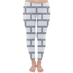 Wall Pattern Rectangle Brick Classic Winter Leggings