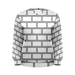 Wall Pattern Rectangle Brick Women s Sweatshirt