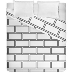 Wall Pattern Rectangle Brick Duvet Cover Double Side (california King Size)