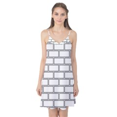 Wall Pattern Rectangle Brick Camis Nightgown