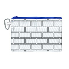Wall Pattern Rectangle Brick Canvas Cosmetic Bag (large)