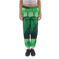 Earth Forest Forestry Lush Green Women s Jogger Sweatpants