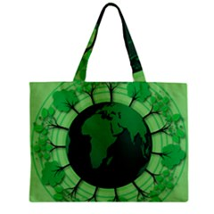 Earth Forest Forestry Lush Green Zipper Mini Tote Bag