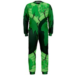Earth Forest Forestry Lush Green Onepiece Jumpsuit (men)
