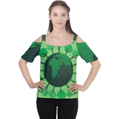Earth Forest Forestry Lush Green Cutout Shoulder Tee