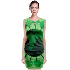Earth Forest Forestry Lush Green Classic Sleeveless Midi Dress