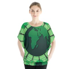Earth Forest Forestry Lush Green Blouse