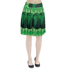 Earth Forest Forestry Lush Green Pleated Skirt