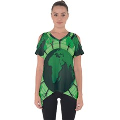 Earth Forest Forestry Lush Green Cut Out Side Drop Tee