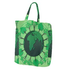 Earth Forest Forestry Lush Green Giant Grocery Zipper Tote