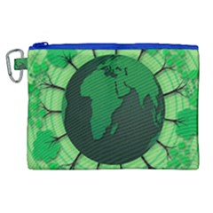 Earth Forest Forestry Lush Green Canvas Cosmetic Bag (xl)