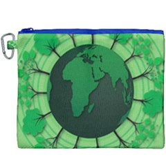 Earth Forest Forestry Lush Green Canvas Cosmetic Bag (xxxl)