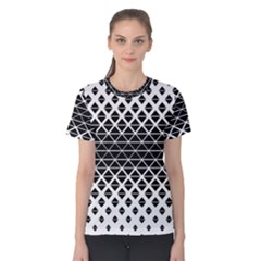 Triangle Pattern Background Women s Cotton Tee