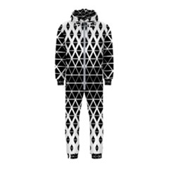 Triangle Pattern Background Hooded Jumpsuit (kids)