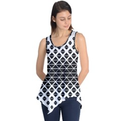 Triangle Pattern Background Sleeveless Tunic