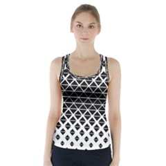 Triangle Pattern Background Racer Back Sports Top