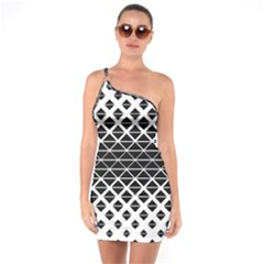 Triangle Pattern Background One Soulder Bodycon Dress