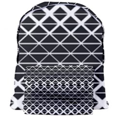 Triangle Pattern Background Giant Full Print Backpack