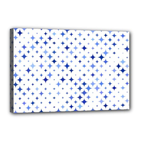 Star Curved Background Blue Canvas 18  X 12