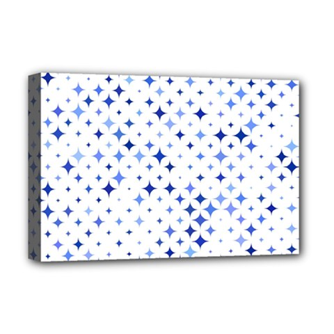 Star Curved Background Blue Deluxe Canvas 18  X 12