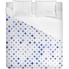 Star Curved Background Blue Duvet Cover (california King Size)