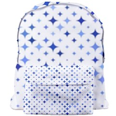 Star Curved Background Blue Giant Full Print Backpack