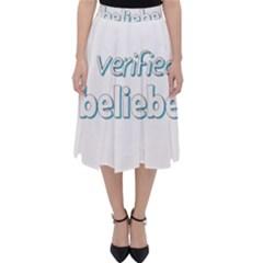 Verified Belieber Folding Skater Skirt