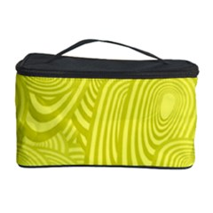 Yellow Oval Ellipse Egg Elliptical Cosmetic Storage Case
