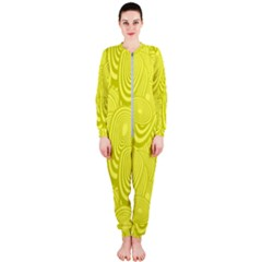 Yellow Oval Ellipse Egg Elliptical Onepiece Jumpsuit (ladies)