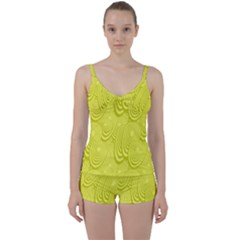 Yellow Oval Ellipse Egg Elliptical Tie Front Two Piece Tankini