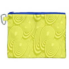 Yellow Oval Ellipse Egg Elliptical Canvas Cosmetic Bag (xxl)