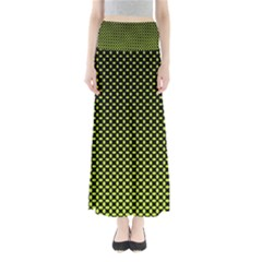 Pattern Halftone Background Dot Full Length Maxi Skirt