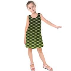 Pattern Halftone Background Dot Kids  Sleeveless Dress