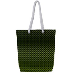 Pattern Halftone Background Dot Full Print Rope Handle Tote (small)