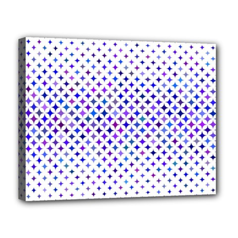 Star Curved Background Geometric Canvas 14  X 11