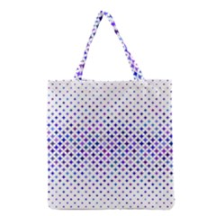 Star Curved Background Geometric Grocery Tote Bag