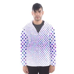 Star Curved Background Geometric Hooded Wind Breaker (men)