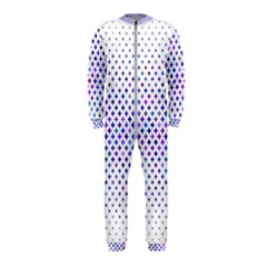 Star Curved Background Geometric Onepiece Jumpsuit (kids)