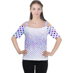 Star Curved Background Geometric Cutout Shoulder Tee