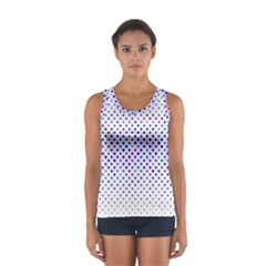 Star Curved Background Geometric Sport Tank Top