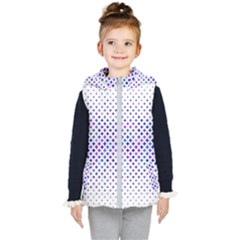 Star Curved Background Geometric Kid s Puffer Vest