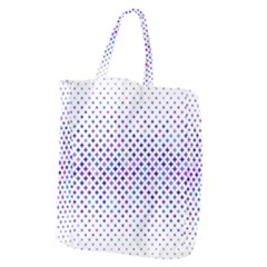 Star Curved Background Geometric Giant Grocery Zipper Tote