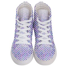 Star Curved Background Geometric Women s Hi Top Skate Sneakers