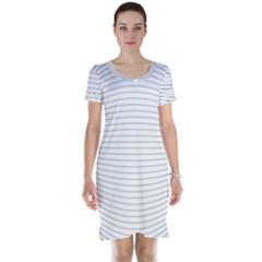 Pattern Background Monochrome Short Sleeve Nightdress