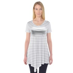 Pattern Background Monochrome Short Sleeve Tunic