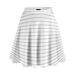 Pattern Background Monochrome High Waist Skirt